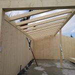 Montaggio travi tetto