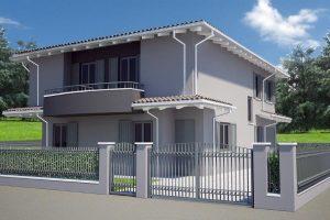Realizzazioni tecnocomfort case for 2 piani di casa in stile cottage