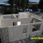 Montaggio pareti in Xlam