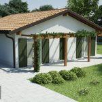 Casa prefabbricata in legno modello 1.00