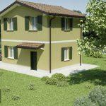 Casa prefabbricata in legno modello 1.04